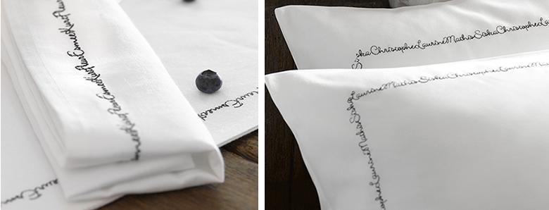 刺繍シーツ